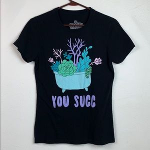 Goodie Two Sleeves succulent You Succ Tee shirt